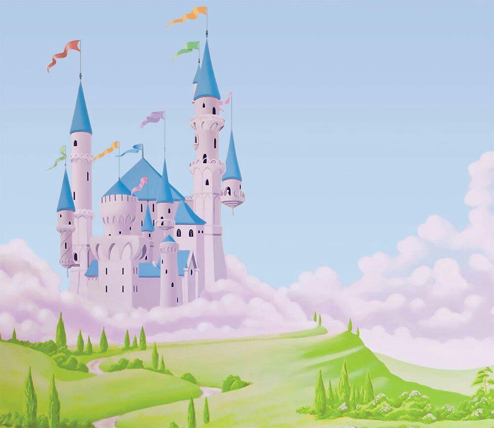 Disney Wallpaper S Princess Cards Castle Mural Background