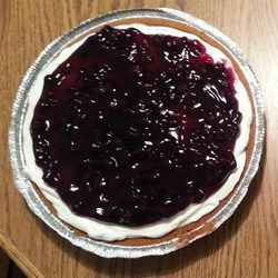 Blueberry and Banana Cream Cheese Pie #bananapie