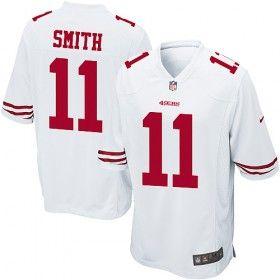 San Francisco 49ers Alex Smith Men's Nike Game #11 White Jersey ...