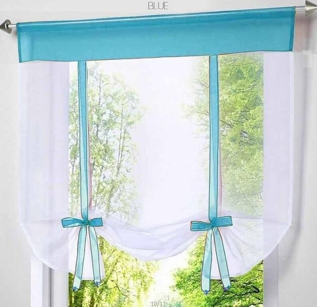 Flying Window Tulle Yarn Kitchen Bay Screen Curtains For Living