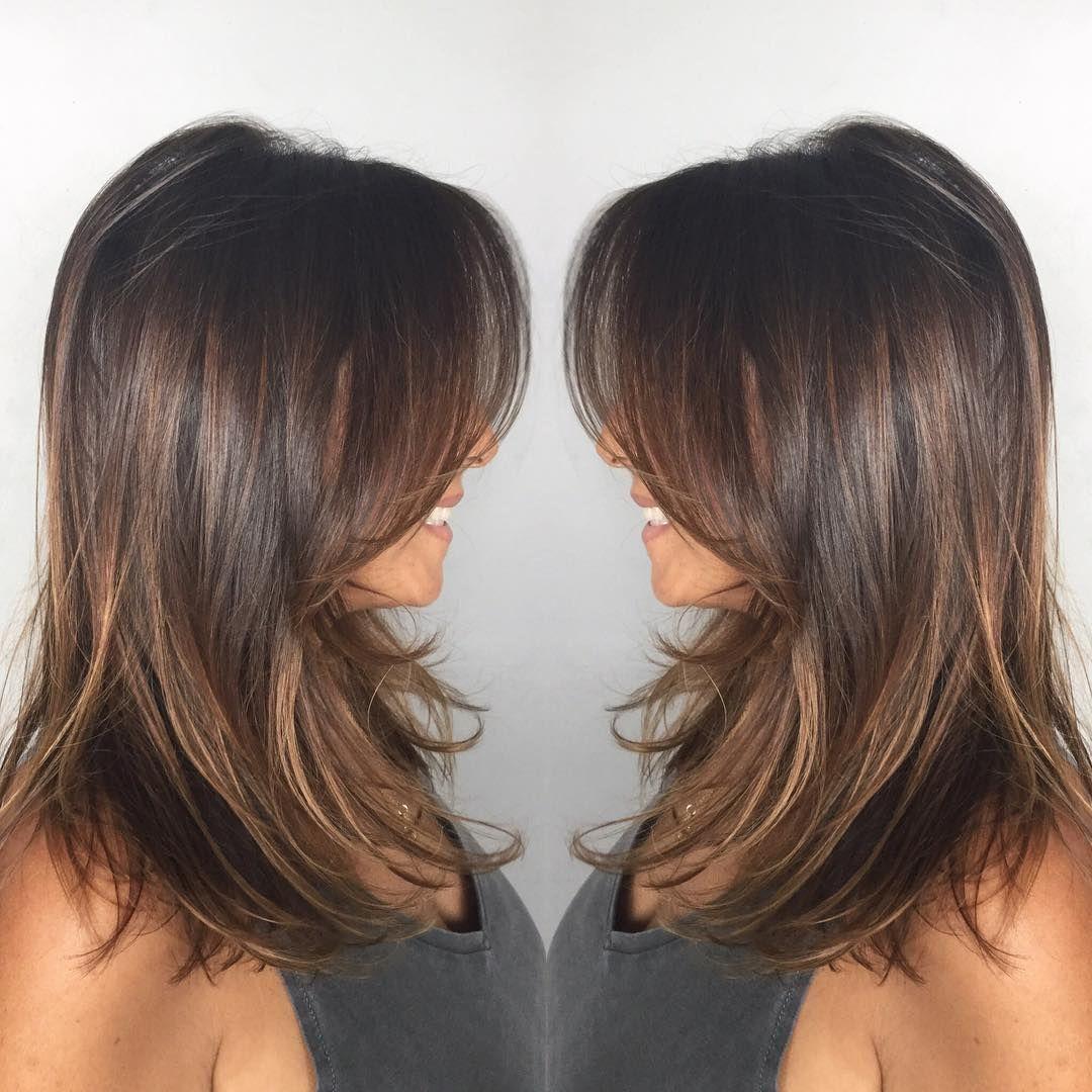 Dark-Ash-Brown Mid-Length Hair with Wispy Layers