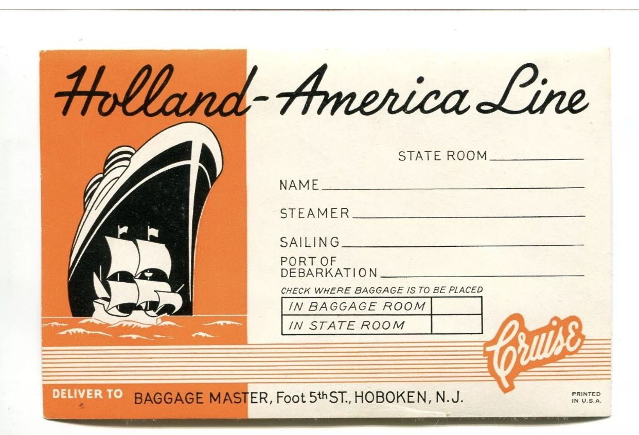 Pin by Oceanic House on Liner luggage tag graphics