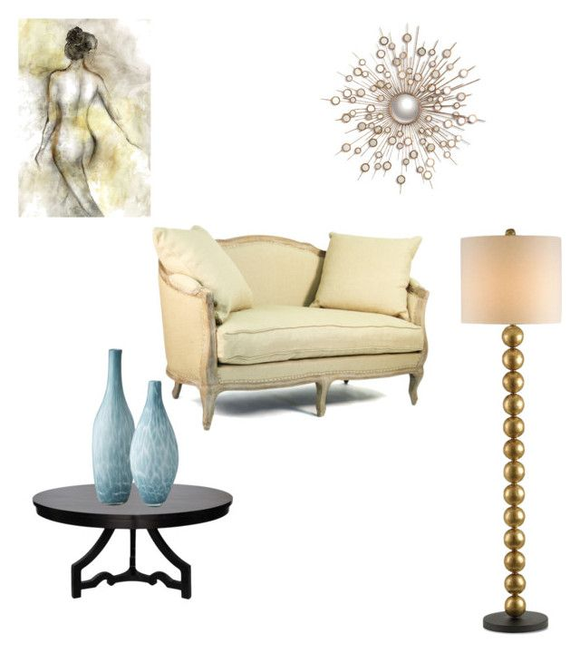 """""""Living area"""" by chynadoll125 ❤ liked on Polyvore featuring interior, interiors, interior design, home, home decor, interior decorating, Noir, Lazy Susan, Leftbank Art and Currey & Company"""