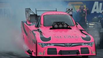 Alexis DeJoria, Toyota in the pink for NHRA events in October - http://blog.clairepeetz.com/alexis-dejoria-toyota-in-the-pink-for-nhra-events-in-october/