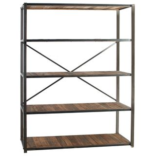 Liso Four Tiered Metal And Wood Bookshelf Wood Bookshelves