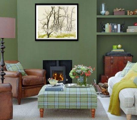 decorating  hunter green living room   home