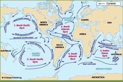 Ocean Currants 2- | Ocean current, Ocean, North asia