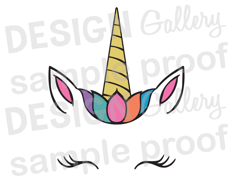 Libreta De Dibujo Mandala Unicornio Papel Blanco: JPG, Png & SVG, DXF Cut File, Printable