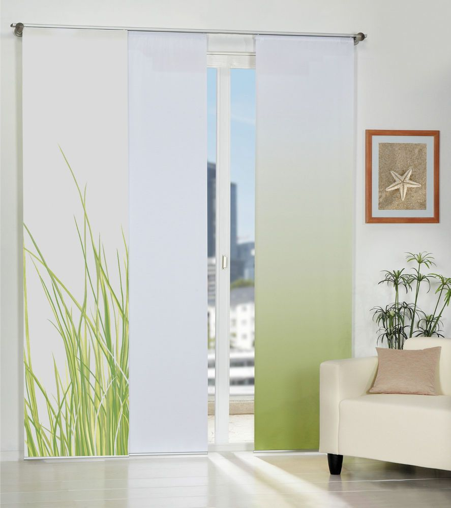 Nizza Sliding Curtain Panels Sliding Room Divider Back