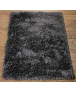 Heart Of House Bliss Deep Shaggy Rug 170x110cm Charcoal