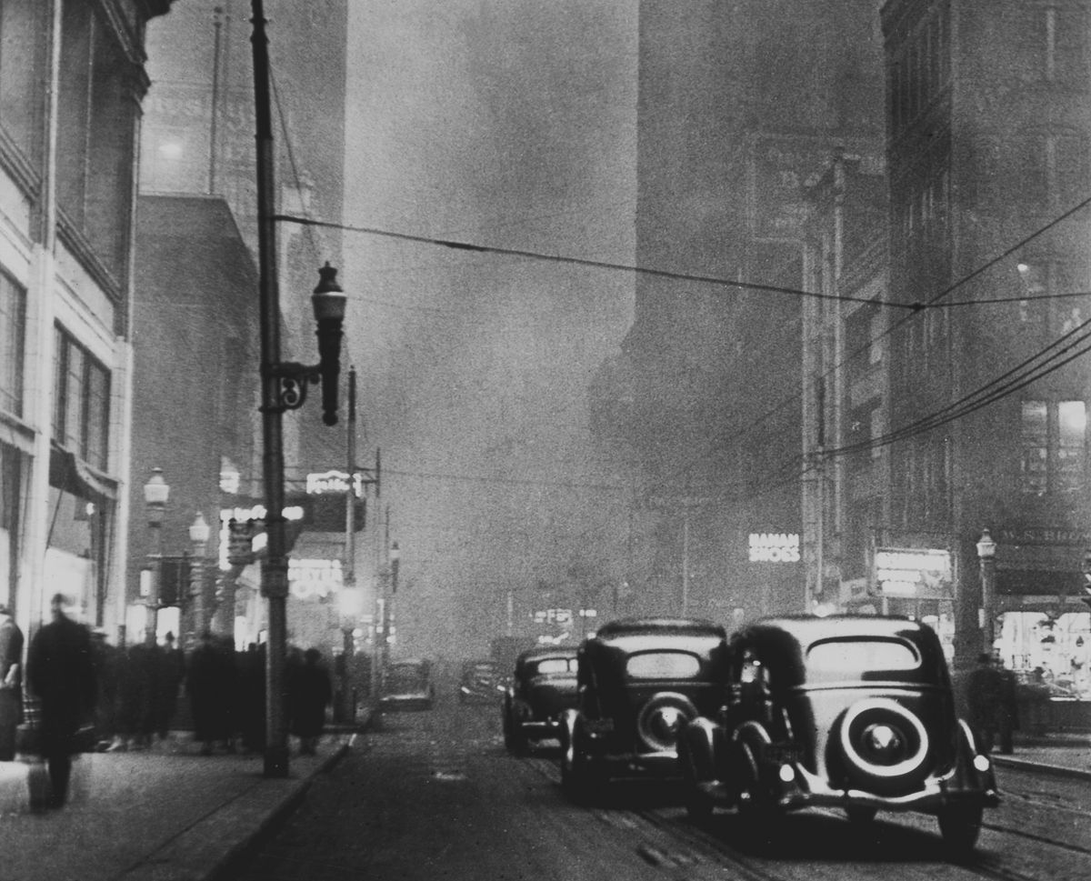 The coal smoke in Pittsburgh used to block out the sun