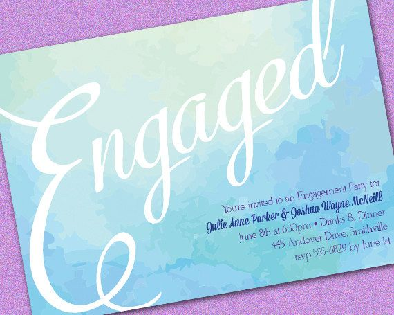 Bokeh Dots Engagement Party Invitation by adorablelilthings - free engagement party invitation templates printable