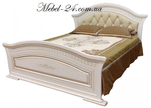 кровать николь с мягким изголовьем мебель в спальню купить