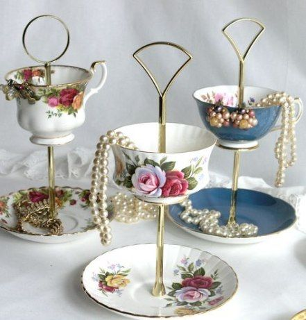 Trendy Jewerly Stand Ideas Tea Cups Ideas #teacups