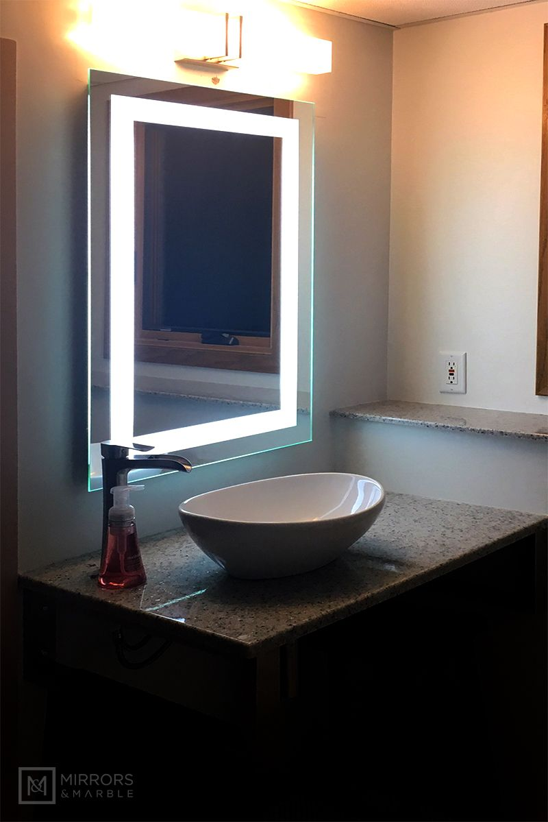 Front Lighted Led Bathroom Vanity Mirror 24 Led Bathroom Mirrors And Marble Mirror