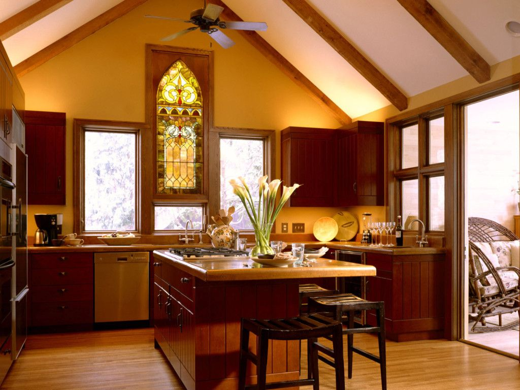 love the stained glass kitchen window | Stained Glass windows ...