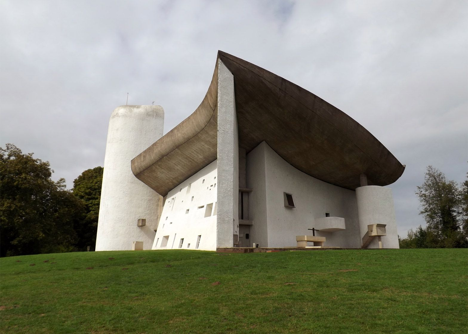 Le Corbusier's Ronchamp chapel is one of his most important buildings