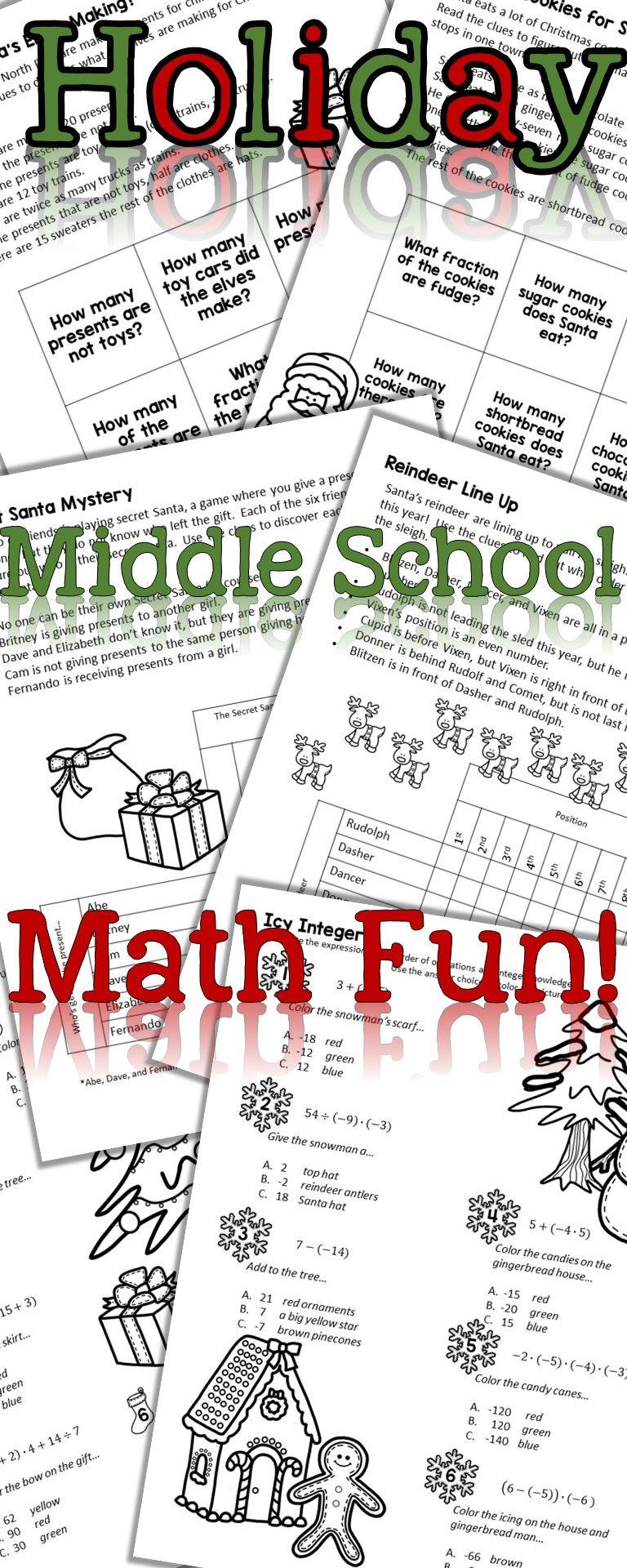 medium resolution of Christmas math puzzles   No prep   Middle school math   Holiday math  activities   Christmas math