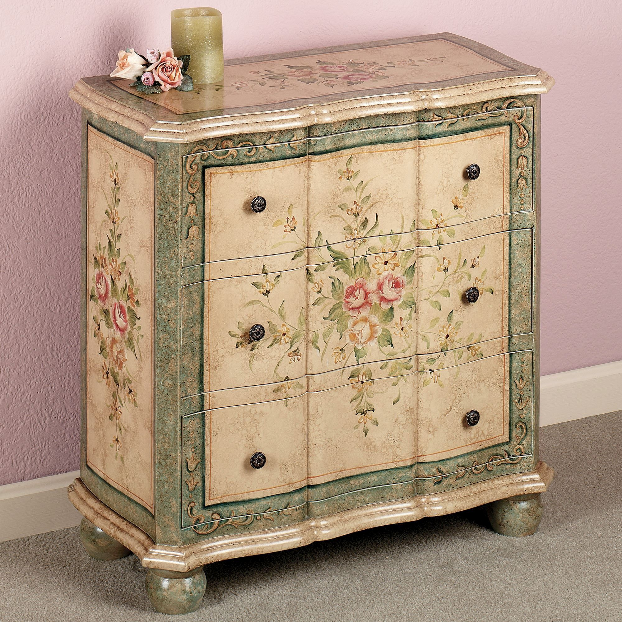 Marissa Floral Storage Chest