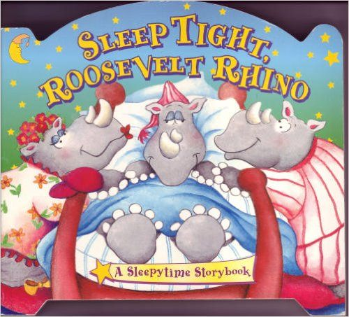 After a full day. Roosevelt turns out the light. Let's wish this rhino good night, sleep tight!