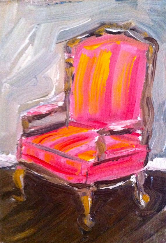 Chair Painting On Canvas By Devinepaintings On Etsy 38 00 Art Chair Canvas Painting Interior Paintings
