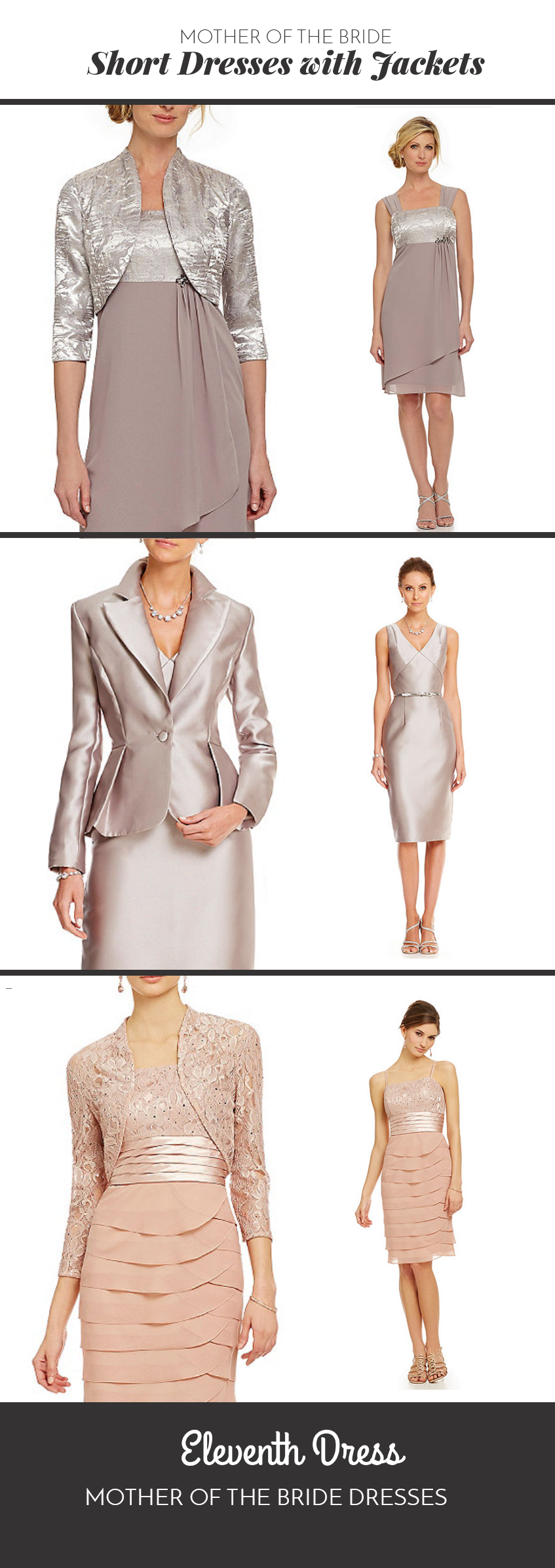 48 Short Mother Of The Bride Dresses With Jackets That You Can Wear To The Wedding Eleventh Dress Mot Mother Of The Bride Dresses Eleven Dress Jacket Dress [ 2393 x 847 Pixel ]