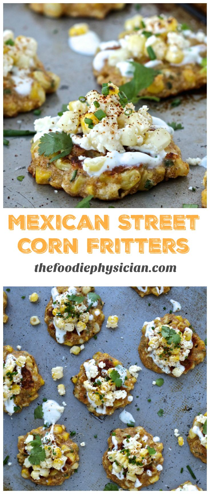 Mexican Street Corn Fritters #mexicanstreetcorn