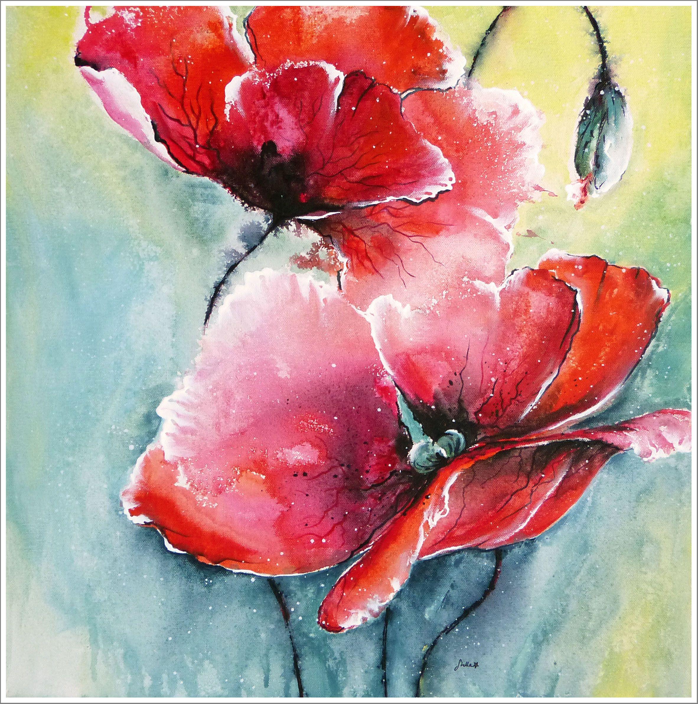 Painting Demo Ornamental Onion Acrylmalerei Lange Version Blumen