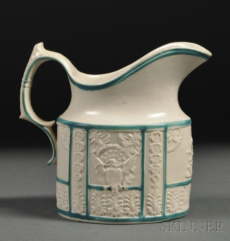 Pottery Creamer Decorated with Liberty and Great Seal, England, c. 1800,