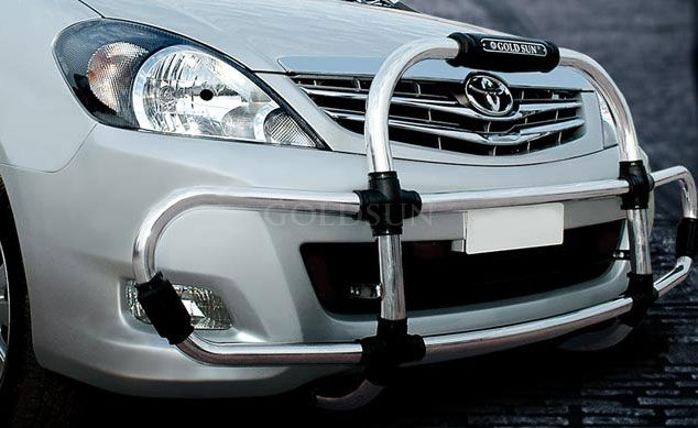 GoldSun-Design:  Evolve ABS Front Guard Black for Toyota INNOVA  Type-1(2