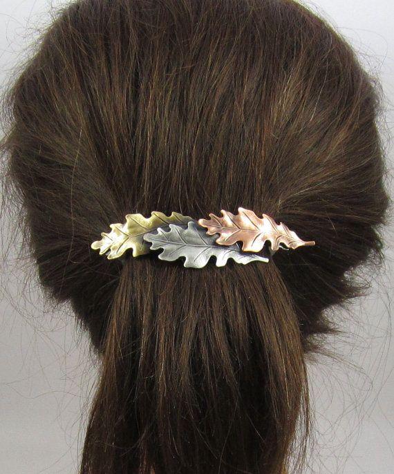 Leaf French Barrette 80mm Thick Hair Barrette Hair Etsy Hair Accessories Barrettes Hair Accessories Hair Barrettes
