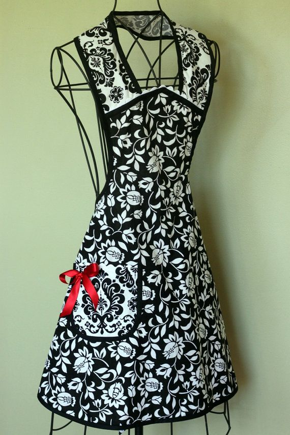 Fabulous black and white apron.