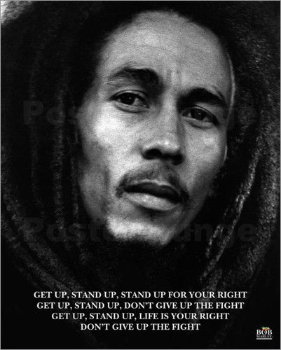 Bob Marley Get Up Stand Up Prominent Pinterest