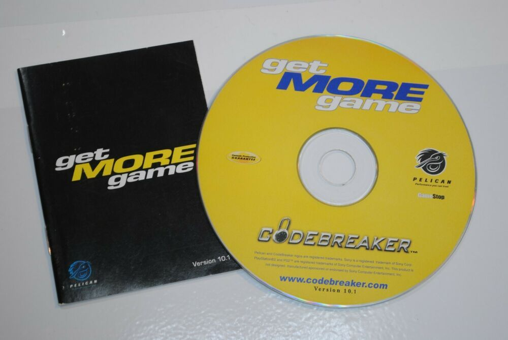 CodeBreaker Get More Game PlayStation 2 Disc Cheat Disc