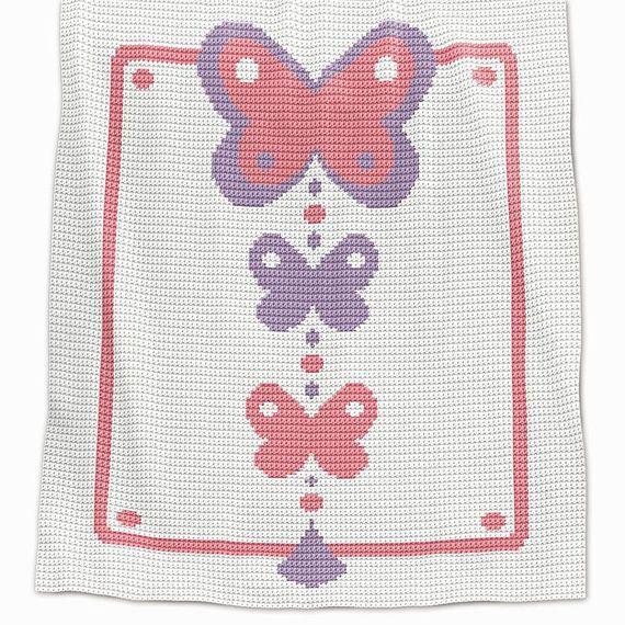 Crochet Blanket Pattern Crochet Baby Blanket Pattern | manta afgana ...