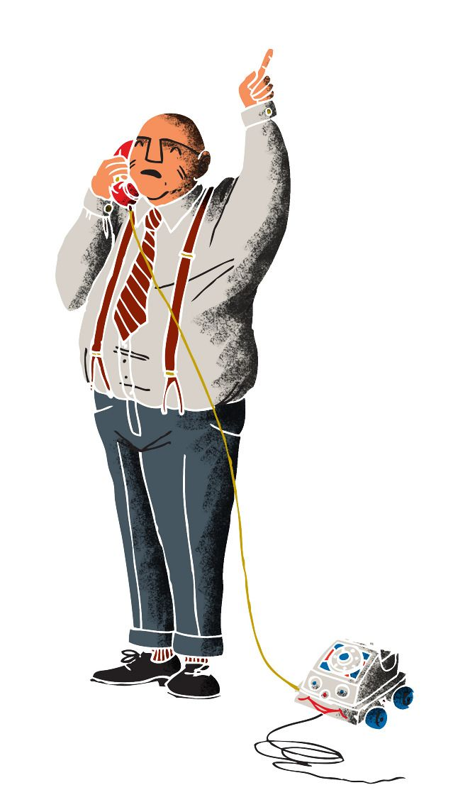 Executive Fisher Price phone #illustration #print