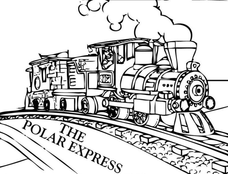 Best Polar Express Film Coloring Pages Train Coloring Pages Polar Express Coloring Pages