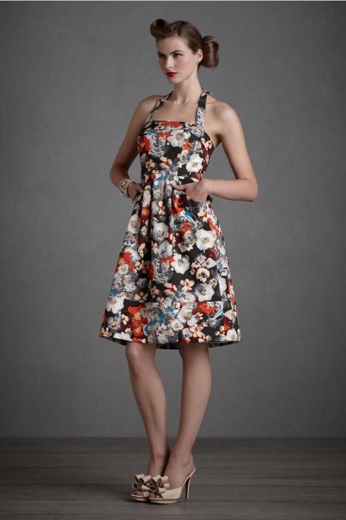 69.29$  Watch now - http://vidfv.justgood.pw/vig/item.php?t=g8qt6f55692 - BHLDN Hitherto Anthropologie Sz 4 Black Floral Halter Dress