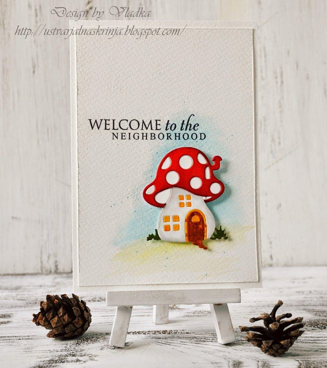 CAS Cottage Cutz Mushroom House die card - bjl   Cards - dies ...