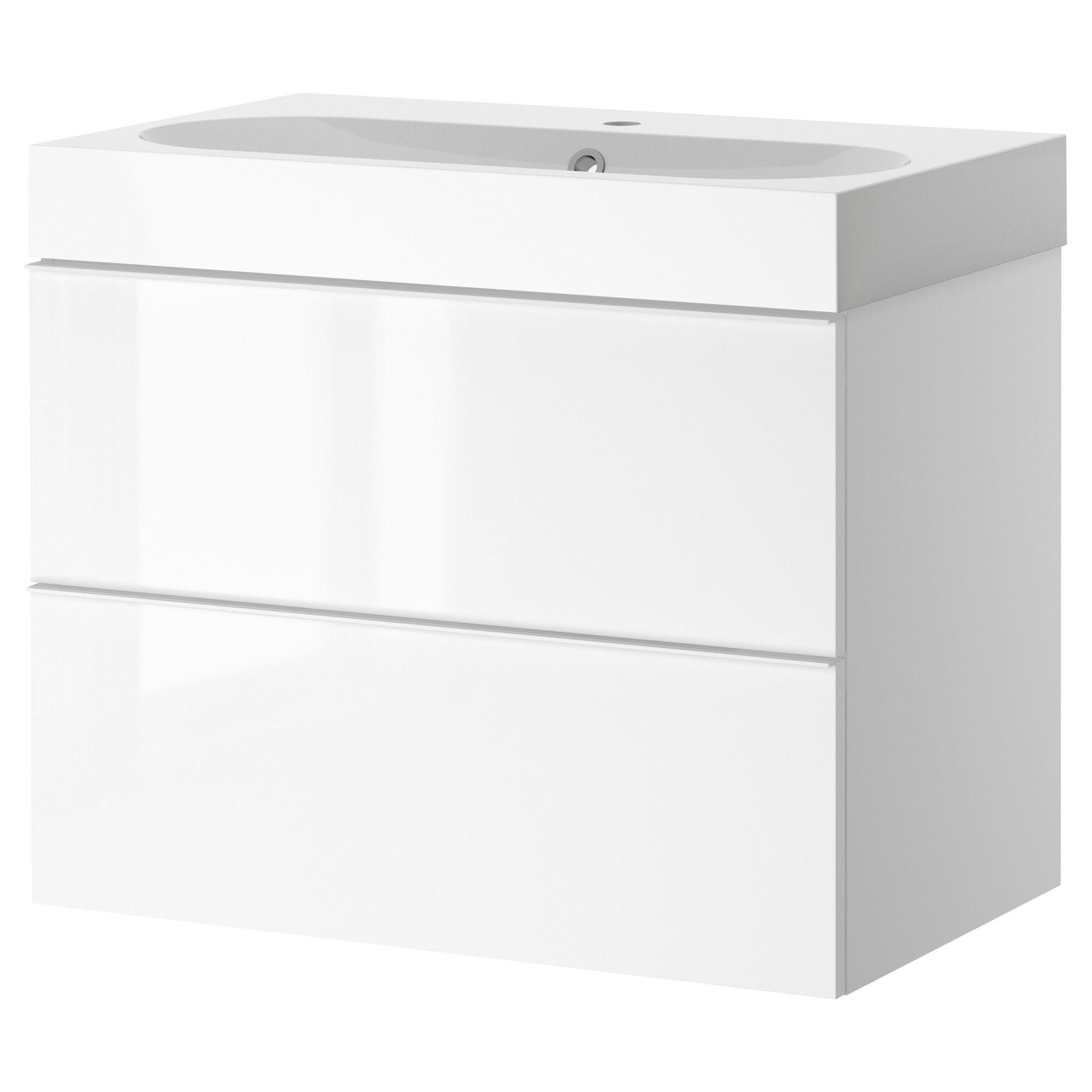 godmorgon / brÅviken sink cabinet with 2 drawers, white high gloss ... - Ikea Bagno Godmorgon