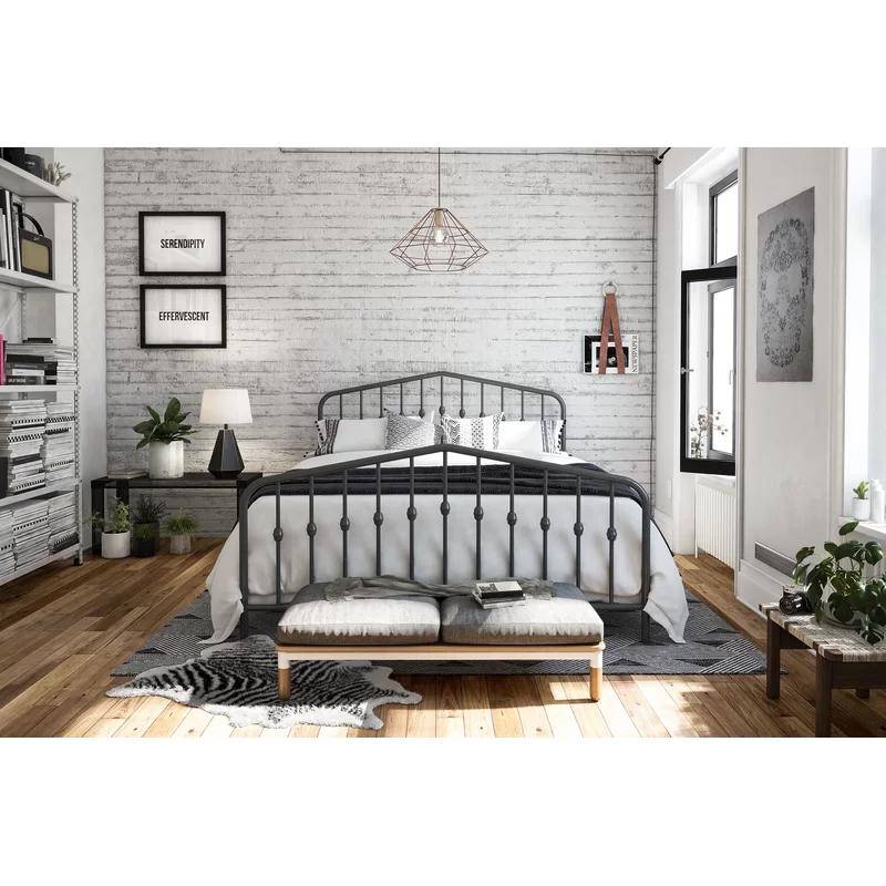 Bushwick Platform Bed Metal platform bed, Bedroom