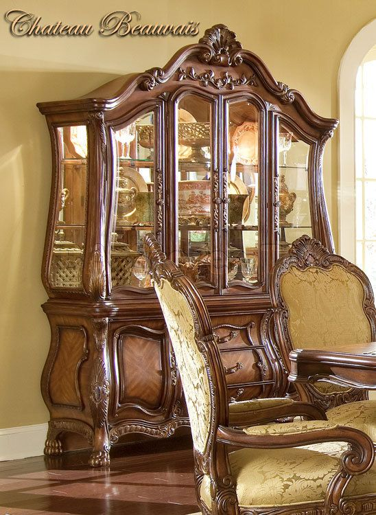 Chateau Beauvais China Buffet Aico Furniture Rococo