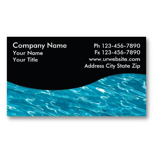Pool Service Cards | Zazzle.com | Swimming Pool Business ...