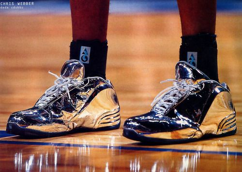 sports shoes 69cce 26abb Chris Webbers Chrome DaDa CDUBBZ from the 2002 NBA All Star Game