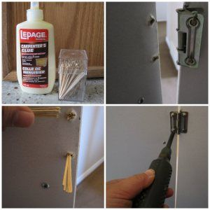 Stripped Holes Loose Screws Hinges Diy Door Hinge Repair Cabinet Hinges Diy