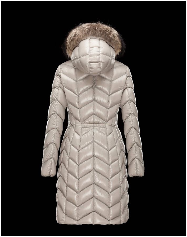 jacken Moncler Damen Mantel Belloy Beige 15-16