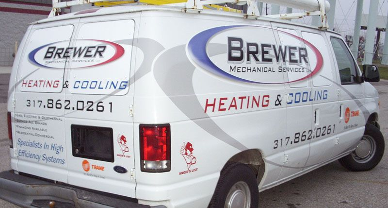 Brewer Mechanical Services Heating Cooling Hvac Van Graphics