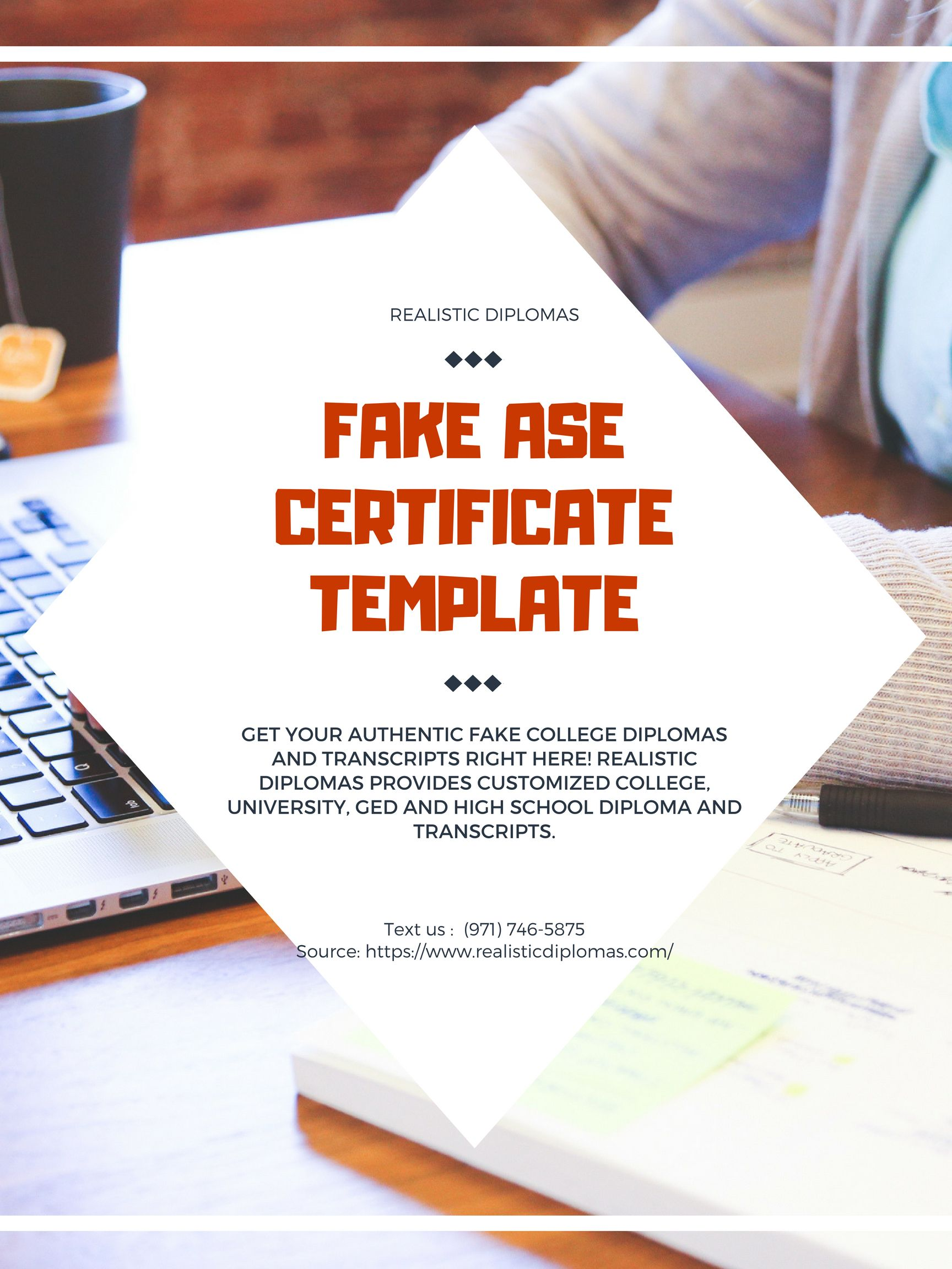 You Can Order Your Fake Ase Certificate Template On Realistic
