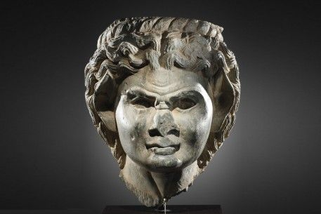 An Expressive Greek Head of a Satyr           CivilizationCentral Asia, with influence from Ghandara, 200 B.C.E.
