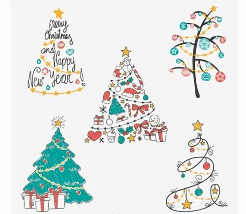 Christmas Tree Clip Art 30 Sets Of Free Vector Graphics Christmas Tree Drawing Christmas Drawing Christmas Art